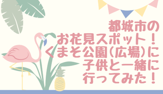 都城市のお花見スポットくまそ広場(公園)にこどもと行ってみた!桜の見ごろはいつ?